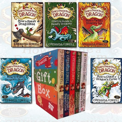How To Train Your Dragon Series Cressida Cowell Collection 4 Books Bundle Gift Wrapped Slipcase Specially For You