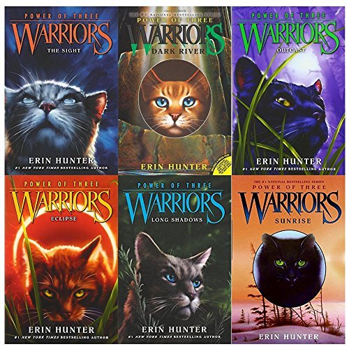Warriors Power of Three Erin Hunter Collection 6 Books Set With Gift Journal