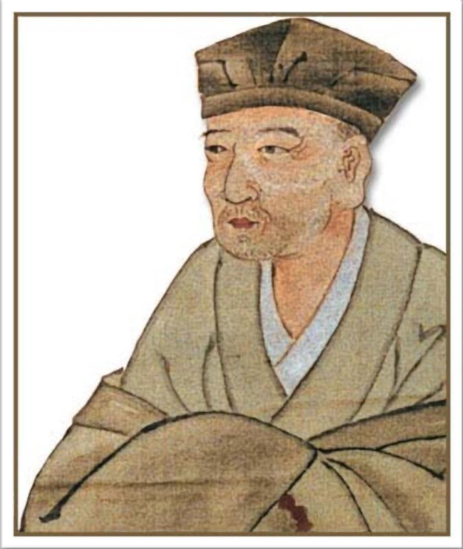 A Monk Sips Morning Tea - Classic Japanese Haiku Poem by Matsuo Basho