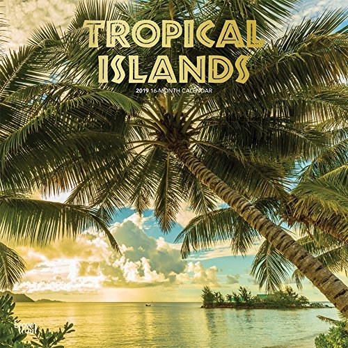 Tropical Islands 2019 12 x 12 Inch Monthly Square Wall Calendar with Foil Stamped Cover, Scenic Travel Tropical Photography