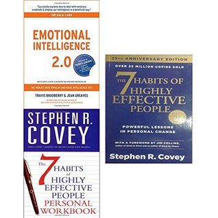 Emotional intelligence 2.0 [hardcover] and 7 habits of highly effective people personal workbook 3 books collection set