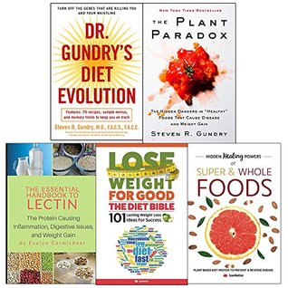Dr gundrys diet evolution, plant paradox [hardcover], essential handbook to lectin, diet bible and hidden healing powers 5 books collection set