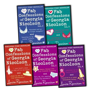 Louise Rennison The Confessions of Georgia Nicolson 5 Books (10 Titles Complete Series) Collection Pack Set RRP: £47.91 (Angus, thongs and full-frontal snogging / It's Ok, I'm wearing really big knickers., Confes Knocked Out By the Nunga Nungas, And tha