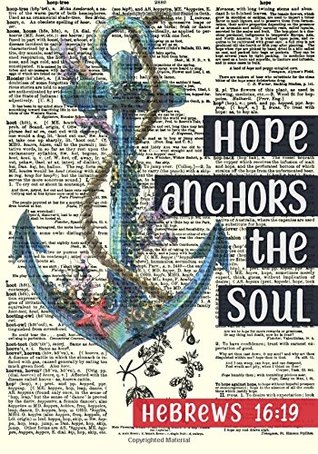 Hope Anchors The Soul Dictionary Art Notebook: A Classic 7x10 Inch Ruled Journal/Composition Book to Write In for Bible Study, Journaling and ... Other Gift Ideas for Women and Teen Girls