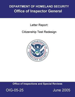 Letter Report [electronic Resource]: Citizenship Test Redesign.