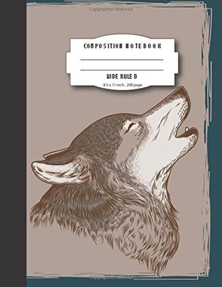 Composition notebook wide ruled 8.5x11 inch 200 page,Fox face drawing: Large composition book journal for school student/teacher/office