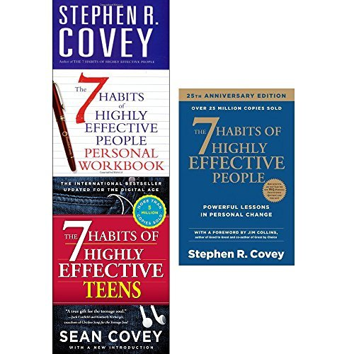 7 Habits Of Highly Effective People, Personal Workbook and teens 3 books collection set by Stephen R Covey