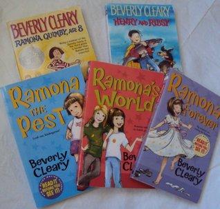 Beverly Cleary Books : Ramona Quimby, Ramona Forever, Henry and Ribsy, Ramona the pest, Ramona's World (Children Book Sets : Grade 3 - 4)
