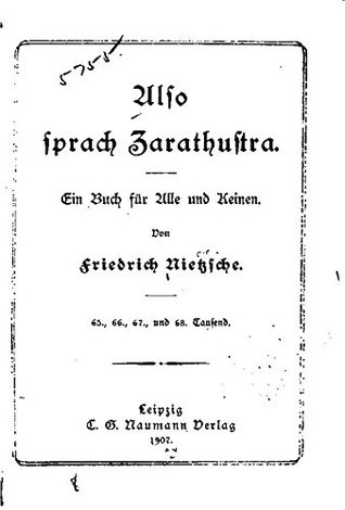 Also sprach Zarathustra: Ein Buch für alle und keinen by Friedrich Wilhelm Nietzsche, Friedrich Nietzsche, Fritz Koegel Publication date 1907