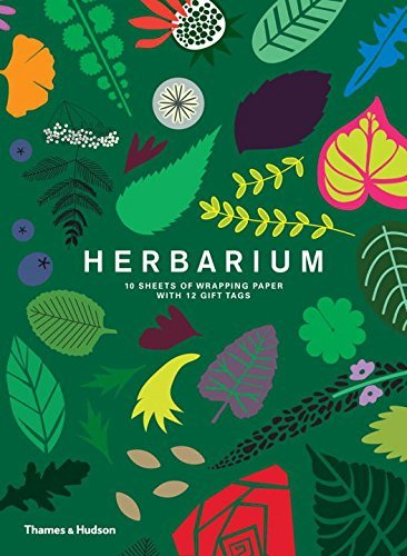 Herbarium Gift Wrap: 10 Sheets of Wrapping Paper with 12 Gift Tags