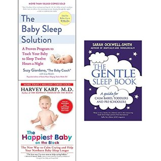 Baby sleep solution, happiest baby on the block and gentle sleep book 3 books collection set