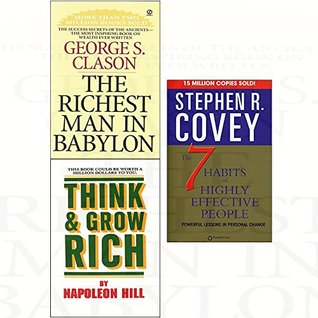 Richest man in babylon, think and grow rich, 7 habits of highly effective people 3 books collection set