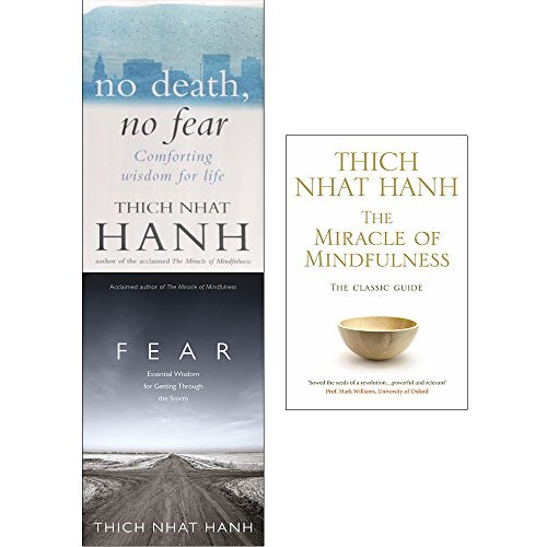 No death no fear, fear and miracle of mindfulness 3 books collection set by thich nhat hanh
