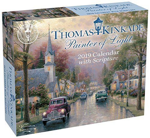 Thomas Kinkade Painter of Light with Scripture 2019 Day-to-Day Calendar