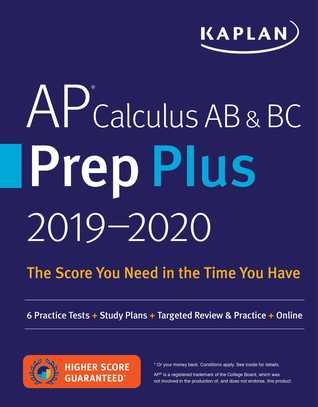 AP Calculus AB  BC Prep Plus 2019-2020: 6 Practice Tests + Study Plans + Targeted Review  Practice + Online