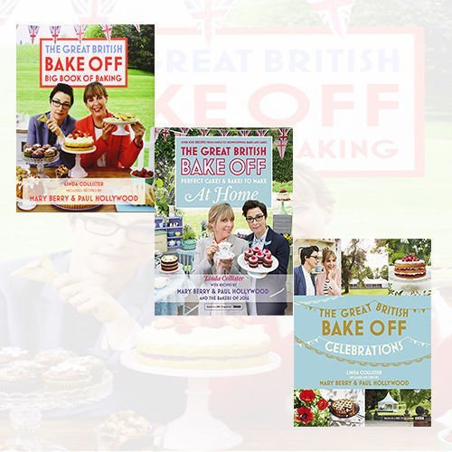 Great British Bake Off cookbook Linda Collister Collection 3 Books Bundle (Celebrations, Perfect Cakes & Bakes To Make At Home: Official tie-in to the 2016 series, Big Book of Baking)