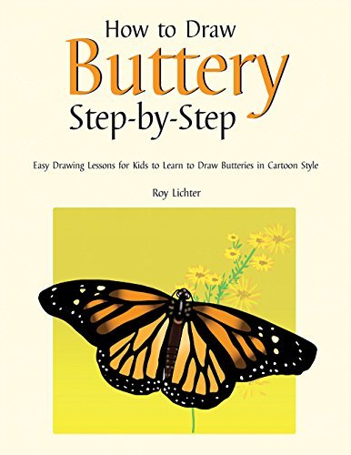 How to Draw Butterfly Step-by-Step: Easy Drawing Lessons for Kids to Learn to Draw Butterflies in Cartoon Style