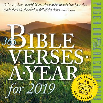 365 Bible Verses-A-Year Page-A-Day Calendar 2019