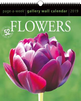 Flowers Page-A-Week Gallery Wall Calendar 2019