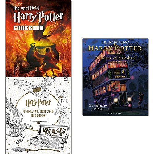 Harry potter and the prisoner of azkaban [hardcover], unofficial harry potter cookbook and colouring book 3 books collection set