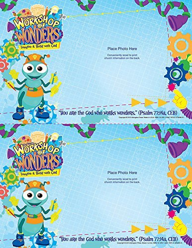Vacation Bible School (VBS) 2014 Workshop of Wonders Follow-Up Photo Frames (Pkg of 50): Imagine & Build with God