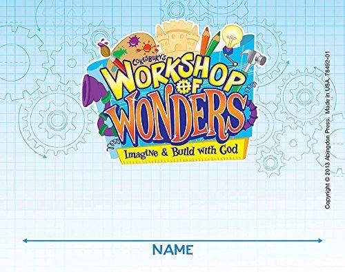 Vacation Bible School (VBS) 2014 Workshop of Wonders Nametag Cards (Pkg of 24): Imagine & Build with God