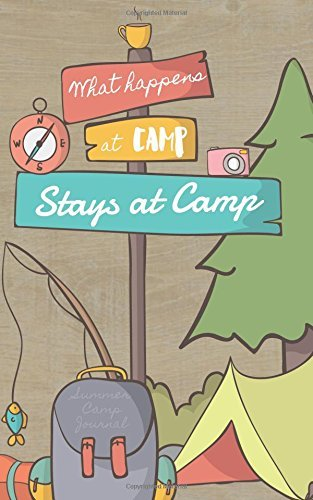What Happens at Camp Stays at Camp Summer Camp Journal: Small Funny Journal for Summer Camp, Summer Camp Notebook for Notes, Thoughts, Experiences, Summer Camp Diary Gift for Girls, Boys, Scout Camp