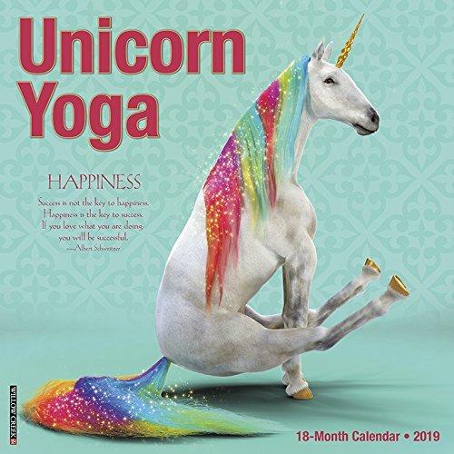 Unicorn Yoga 2019 Wall Calendar