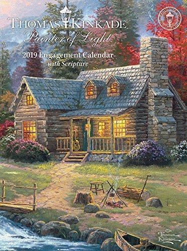 Thomas Kinkade Painter of Light with Scripture 2019 Engagement Calendar