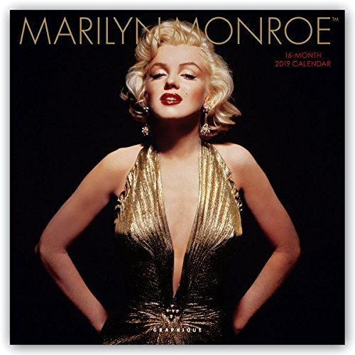 "Graphique Marilyn Monroe Wall Calendar - 16-Month 2019 Calendar, 12""x12"" w/ 3 Languages, 4-Month Preview, Marked Holidays"