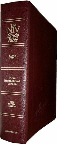 Zondervan NIV Study Bible, Red Letter Edition [Large Print] (Burgundy Genuine Leather)