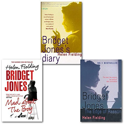 Helen Fielding Bridget Jones Collection 3 Books Set, (Bridget Jones: The Edge of Reason, Bridget Jones's Diary: A Novel and Bridget Jones: Mad About the Boy)