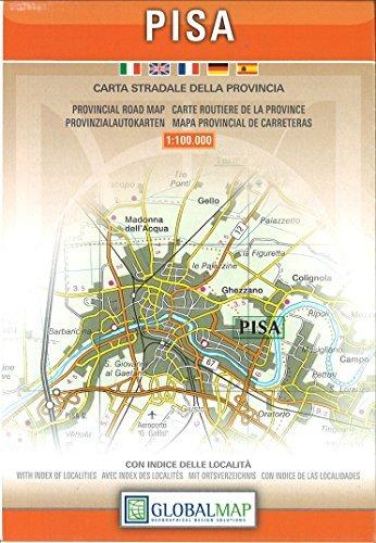 Pisa Provincial Road Map