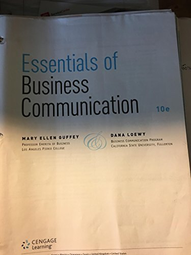 Essentials of Business Communication Tenth Edition