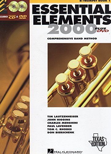 Essential Elements 2000: Comprehensive Band Method (B flat Trumpet Book 1) Texas Edition