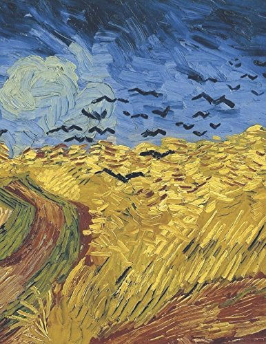 600 Page Sketchbook: Vincent Van Gogh Wheatfield with Crows Art Journal for Doodling and Sketching