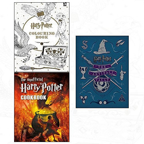 Artifact vault [hardcover] colouring book and unofficial harry potter 3 books collection set