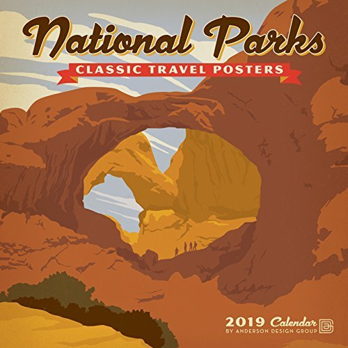 National Parks Classic Posters 2019 Wall Calendar