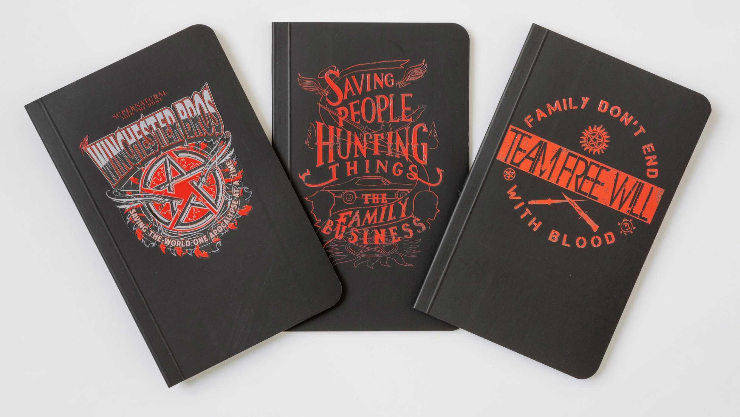 Supernatural Pocket Notebook Collection (Set of 3)