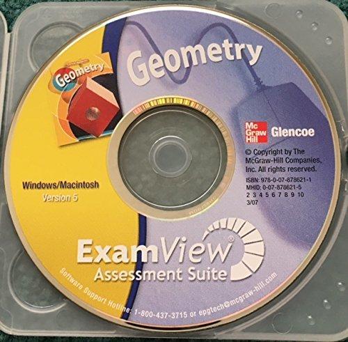 Glencoe McGraw-Hill Geometry ExamView Exam View Assessment Suite CD-ROM Windows/Macintosh Version 5