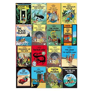 Tintin Comic Books Series Set for Children - Brand New 16 Graphic Books Collection by Herge