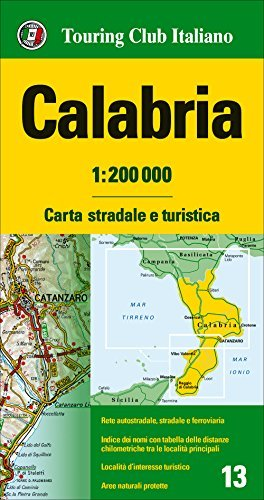 Calabria, Road and Tourist Map