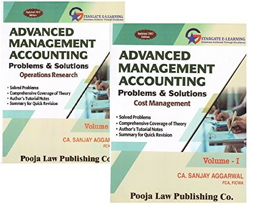 Pooja Law Publishing's Advanced Management Accounting Problems & Solutions (AMA) for CA Final May 2017 Exam by CA. Sanjay Aggarwal [2 Vols. 2017 Edn.]