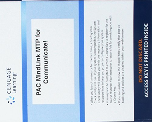 Lms Integrated for Mindtap Speech, 1 Term (6 Months) Printed Access Card for Verderber/Verderber/Sellnow's Communicate!, 15th