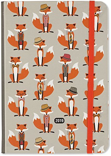 2019 Dapper Foxes Weekly Planner (16-Month Engagement Calendar, Diary)