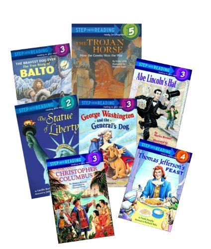 Step Into Reading Set: Historical / Nonfiction: Lewis & Clark, a Prairie Dog for President; Pompeii Buried Alive; Wild Wild Wolves; Christopher Columbus; the Bravest Dog Ever, True Story of Balto (Book Sets for Kids : Kindergarten - Grade 2)