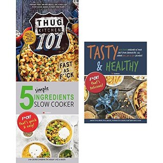 Thug kitchen 101 [hardcover], 5 simple ingredients slow cooker and tasty & healthy 3 books collection set
