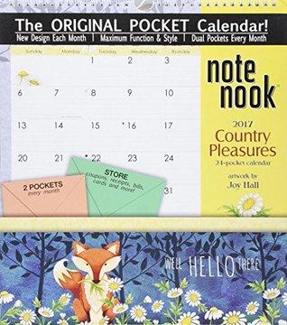 Country Pleasures 2017 Note Nook 24-Pocket Calendar
