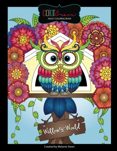 Willow's World Adult Coloring Book: Fun Owls