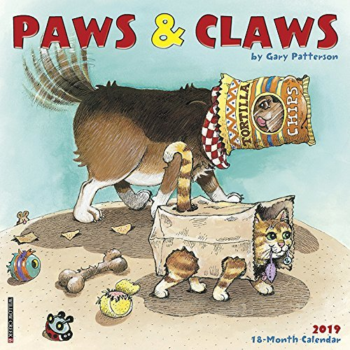 Gary Patterson's Paws N Claws 2019 Wall Calendar
